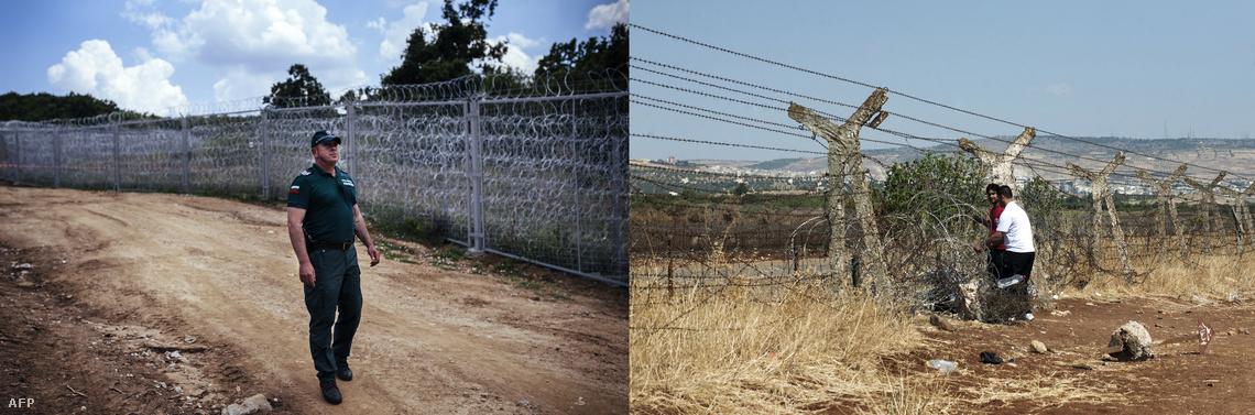 Kerítés a bolgár-török és a török-szíriai határon.