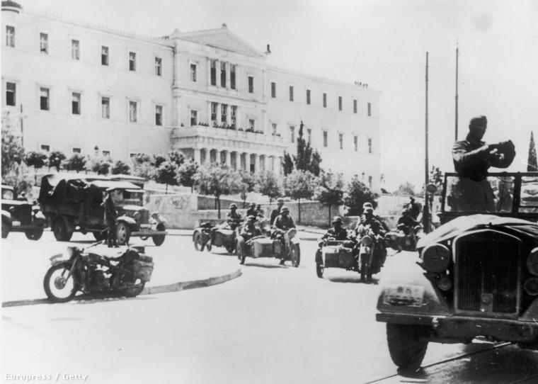 Német csapatok Athénban, 1941.