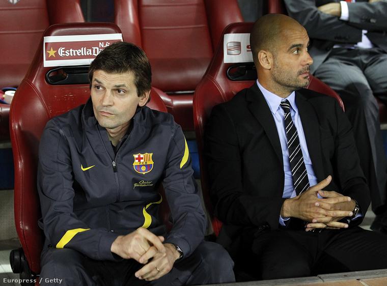 Tito Vilanova és Pep Guardiola