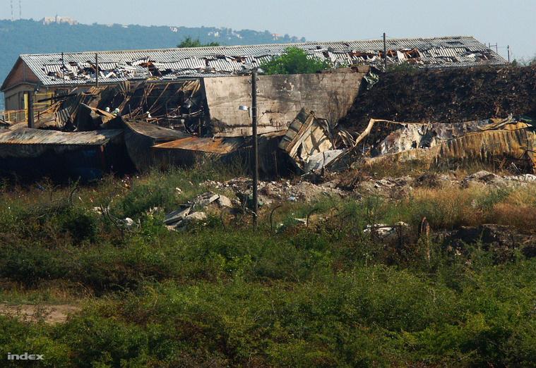 A törökbálinti petárdagyár a tragédia másnapján