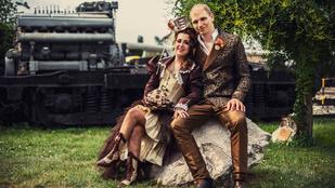 Annamáriának és Balázsnak iszonyú menő steampunk esküvője volt!