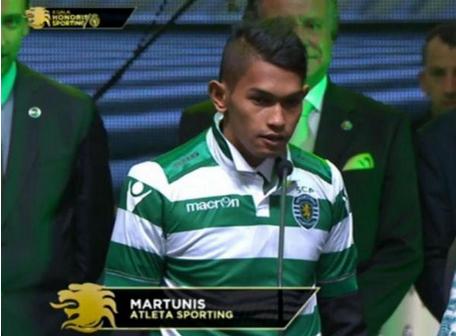 Martunis már a Sporting mezében