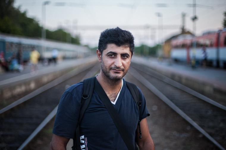 A kurd férfi az ISIS által ostromlott, de végül az YPG által megvédett, szíriai Kobaniból érkezett.