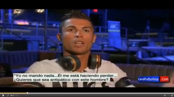 Cristiano Ronaldo interjú közben akadt ki