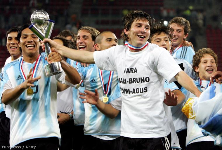 Az eddigi legkomolyabb trófeája Argentínával: a 2005-ös U20-as vb-cím