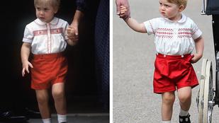30 éve Vilmos herceg is ugyanolyan ruhát viselt, mint György herceg a keresztelőn