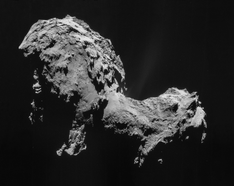 Comet 67P on 19 September 2014 NavCam mosaic