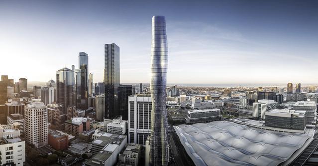 Ilyen lesz Melbourne legújabb felhőkarcolója.