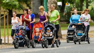 Babakocsis futás: szuper a babának, anyának és apának is