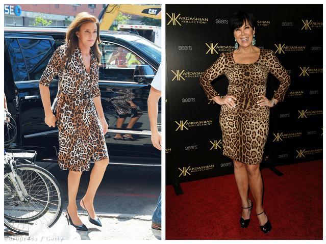 Caitlyn és Kris Jenner - mindketten lopárdmintában