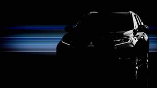 Titokzatos képen az új Mitsubishi terepjáró
