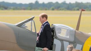 Vilmos herceg halált megvető bátorsággal préselte bele magát ebbe a repülőbe