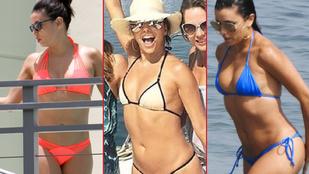 Nehéz döntést kell meghoznia: Melyik bikini áll jobban Eva Longoriának?