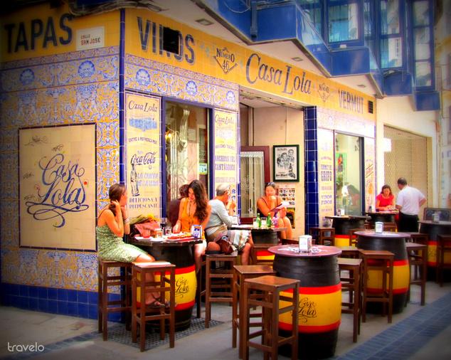 Tapas bár Malagában