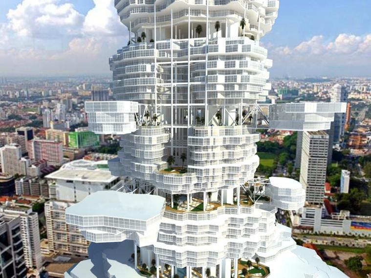 Szingapúri Felhőváros (Kazah Építészek Társasága)