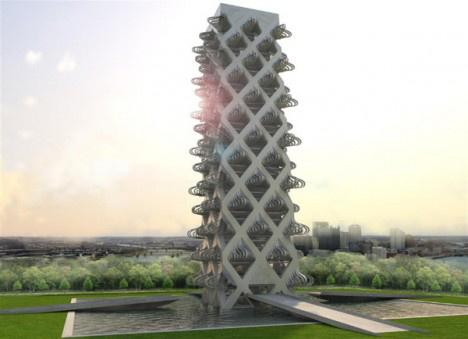 """""""A városok egy teljesen új formában jelennek majd meg a jövőben. A statikus városok az örökségünk részét képezik majd."""" –állítja az energia-szabályozott külső """"héjat"""" és interaktív szerkezetet kapott Kinetowert tervező stúdió, a Kinetura vezető építésze, Xaveer Claerhout."""