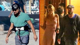 DiCaprio kitesurf leckékkel és csajozással élvezi a nyarat