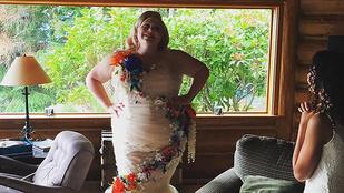A kövér menyasszony, aki direkt előnytelen ruhát választott