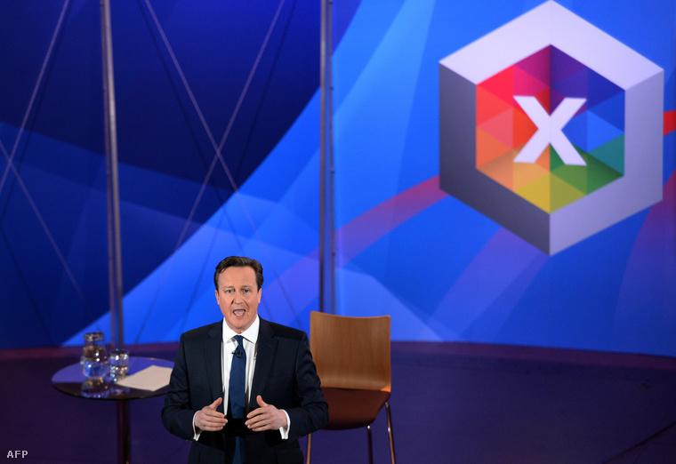 David Cameron a BBC vitaműsorában a választási kampány hajrájában.