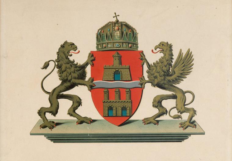 Budapest első címere 1872-ből