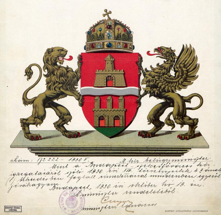 Budapest 1930-as címere
