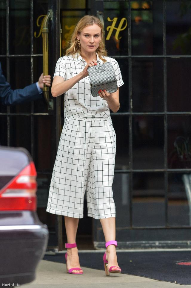 Diane Kruger és a nadrágszoknya-trend.