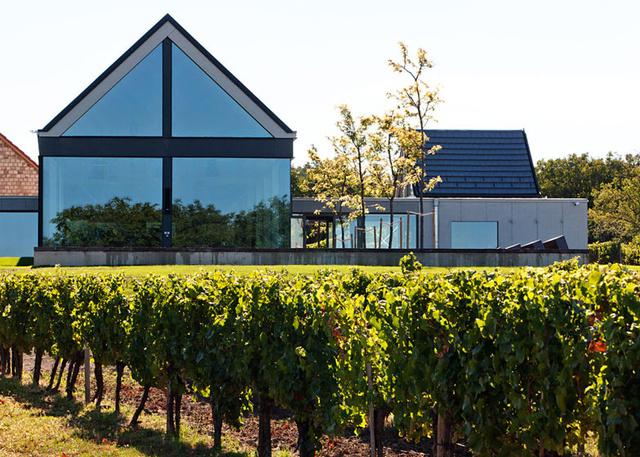 3. Etyeki Kúria Borgazdaság:                         A Bord Építész Stúdió által tervezett borászat ismerős lehet olvasóink körében, hiszen ezt a modernizált borászatot szavazták meg a tavalyi év legjobbjának. A látványos terasszal, borbíráló helyiséggel és vinotékával kibővített borászat az Etyek-Budai borvidéken elsőként telepített Pinot Noir szőlőt, ami bátor, de jó döntésnek bizonyult, hiszen az ebből készült bor nívós kitüntetéseket hozott a Mérész Sándor, Matolcsy Sára és Babarczi László által vezetett Etyeki Kúriának.