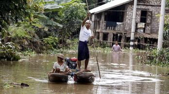 Áradás pusztít Mianmarban