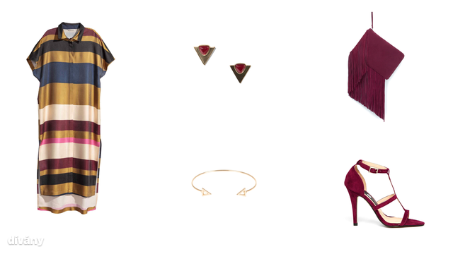 Ruha - 14900 Ft (H&M), fülbevaló - 1995 Ft (Mango), táska - 9995 Ft (Zara), karkötő - 1695 Ft (Parfois), cipő - 30 font (Daisy Street/Asos)