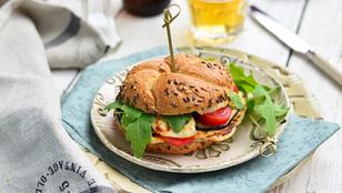 Villámvacsora: padlizsános-sajtos grillszendvics