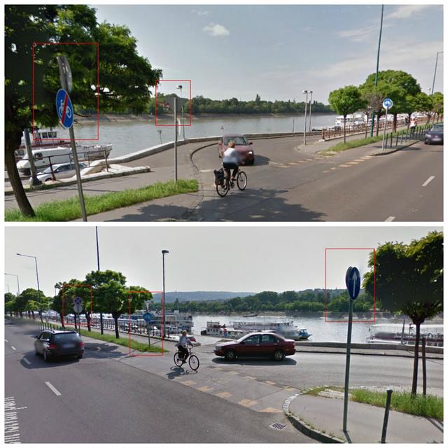 A fenti képen látszik, hogy északra haladva a tábla szerint véget ér a kerékpárút, ellenkező irányban viszont nem.
