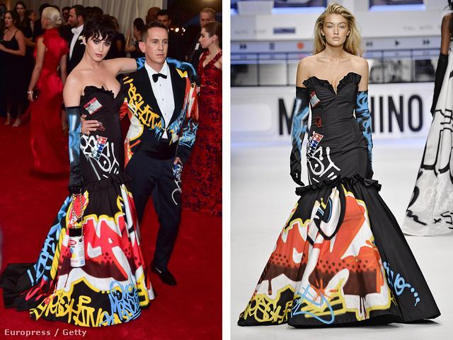 Katy Perry (oldalán Scott-tal) és Gigi Hadid a kérdéses ruhában: nézze az estélyi alját, ott figyelnek Rime szemei!