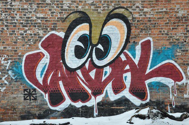 Rime graffitije, amiből elég direkt módon inspirálódott a Moschino tervezője.