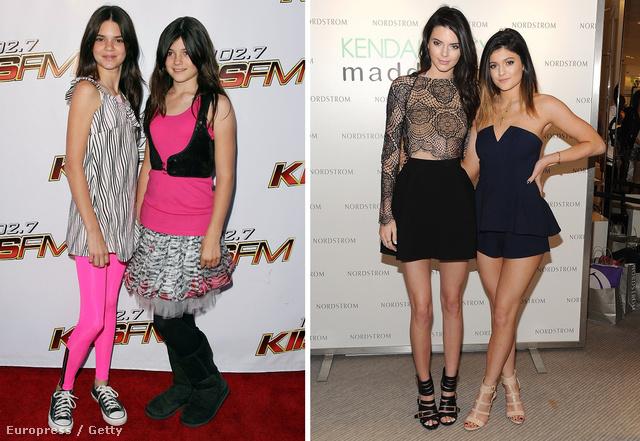 2008. vs 2014.: Kendall és Kylie Jenner kislányként és szinte felnőtt nőként.