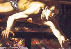 Caravaggio: Szt. Lőrinc mártíromsága