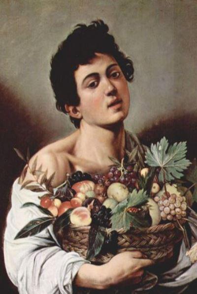 Caravaggio: Gyümölcskosaras fiú (részlet)