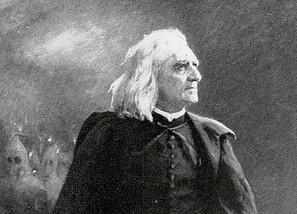 Liszt Ferenc - Ilja Repin festménye 1886-ból (részlet)