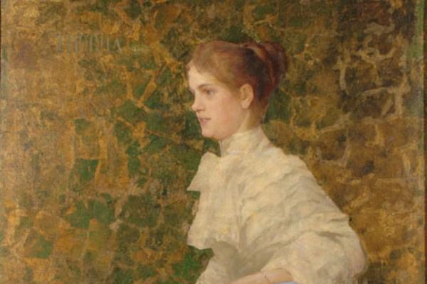 Thorma János: Bilcz Irén portréja (1892) - részlet