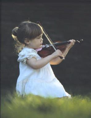 gyerek, hegedű, kislány