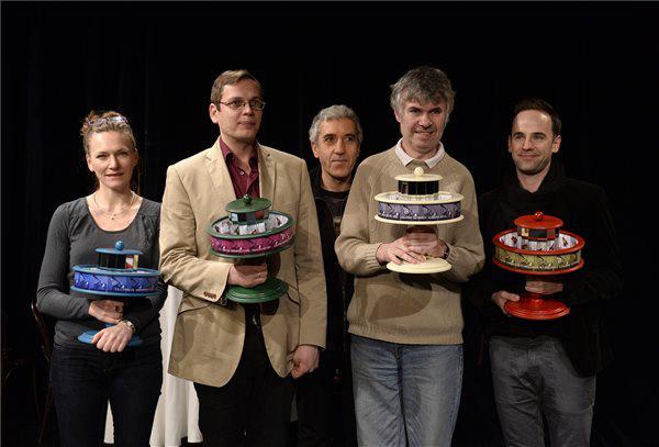 Szamosi Zsófia, Kőhalmi Zoltán, Vajdai Vilmos és Ezüsthigany, Járai Máté (fotó Bruzák Noémi, MTI)