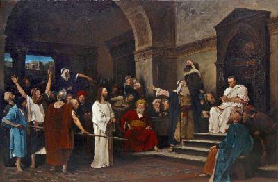Munkácsy Mihály: Krisztus Pilátus előtt (1881)