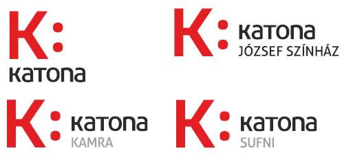 A Katona József Színház új logója (terv: Szilágyi József)