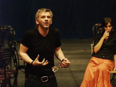 Ármány és szerelem - próbafotó - Alföldi Róbert, Bánfalvi Eszter (Nemzeti Színház, fotó: SzoFi)