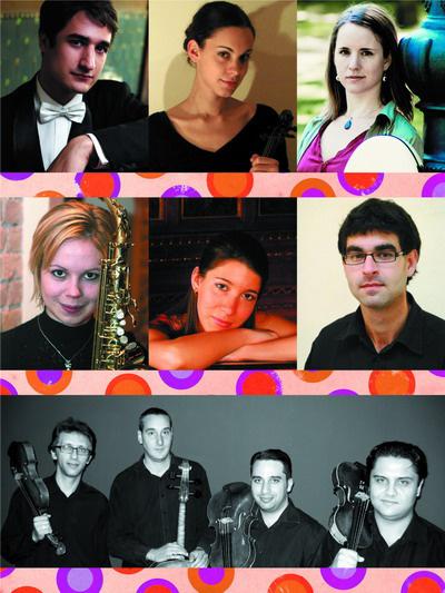 Klassz tehetségek 2010Fülei Balázs, Szabó Réka, Rohmann Ditta, Seleljo Erzsébet, Mali Emese, Somfai Gábor, Nádor Vonósnégyes