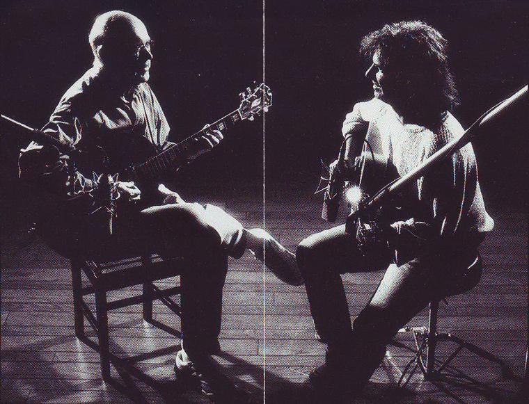 A Jim Hall and Pat Metheny c. lemez belső borítója