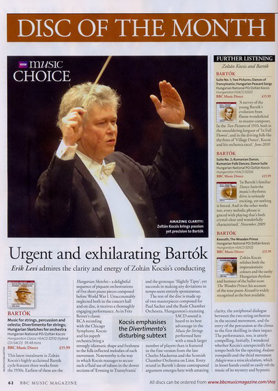 Kocsis Zoltán a BBC Magazinban2010. szeptemberi szám (augusztusi megjelenés)