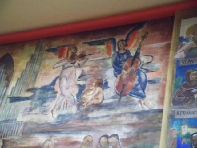 Anton Faistauer freskójának részlete - Salzburg