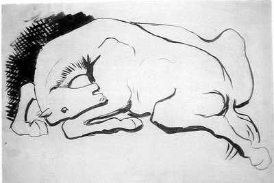 Picasso ló-rajz