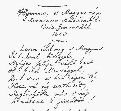 Himnusz kézirat
