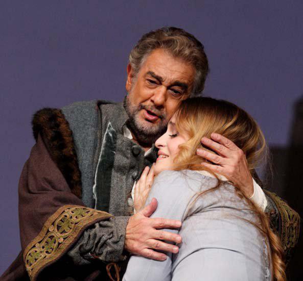 Plácido Domingo és Marina Poplavszkaja